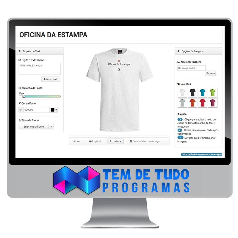 3f7aec51165b5 Script Personalizar Camisetas - Script Estampas Responsivo