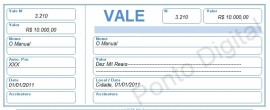 Vale Com Canhoto (excel) Edit�vel