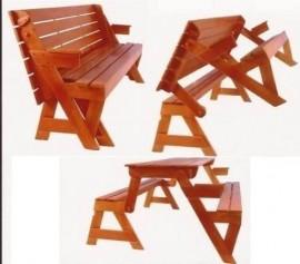 Projeto Marceneiro Kit Cadeira Vira Escada + Mesa Vira Banco