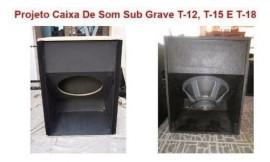 Projeto Caixa De Som Sub Grave T-12, T-15 E T-18