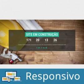 Site em Construção Template em HTML 004