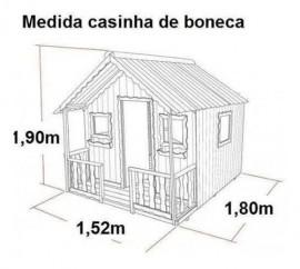 Projeto Casinha Boneca Infantil Madeira
