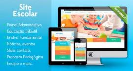 Script Php, Website Responsivo Escola Educação Com Painel