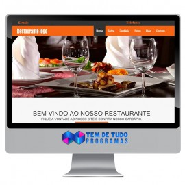 Site Restaurante Responsivo administrável - Script PHP